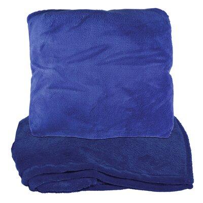 Zip Up Fleece Throw Blanket Color: Blue