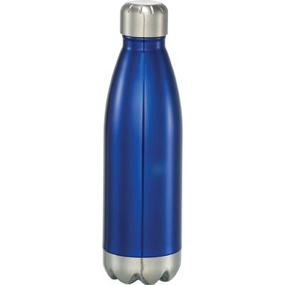 Charles Insulated Hot or Cold 17 oz. Water Bottle Color: Blue