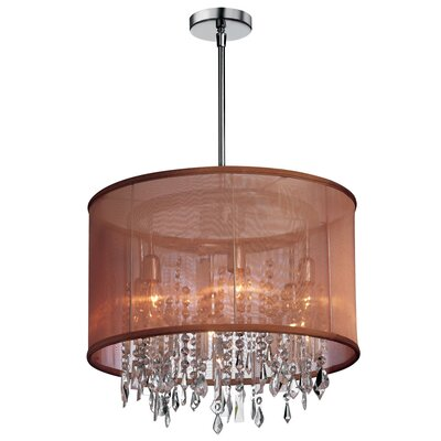 McKeon 6-Light LED Crystal Drum Chandelier