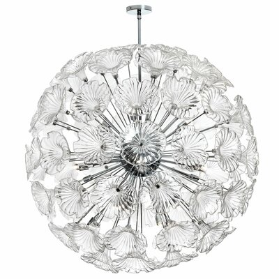 Larae 20-Light Globe Pendant Shade Color: Clear