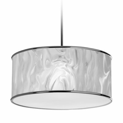 Irena 3-Light Drum Pendant Shade Color: White