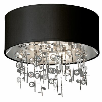 Markell 4-Light Flush Mount Shade Color: Black