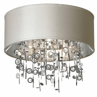 Markell 4-Light Flush Mount Shade Color: Pebble