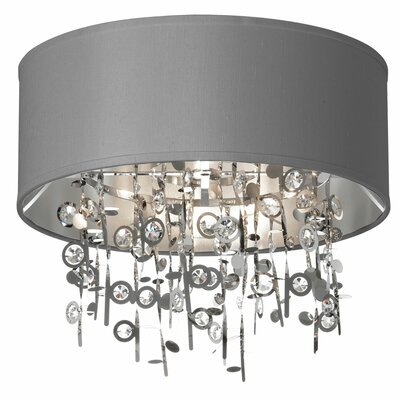 Markell 4-Light Flush Mount Shade Color: Silver