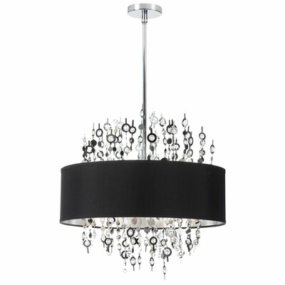 Jordi 8-Light Drum Pendant Shade Color: Black