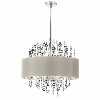 Jordi 8-Light Drum Pendant Shade Color: Pebble