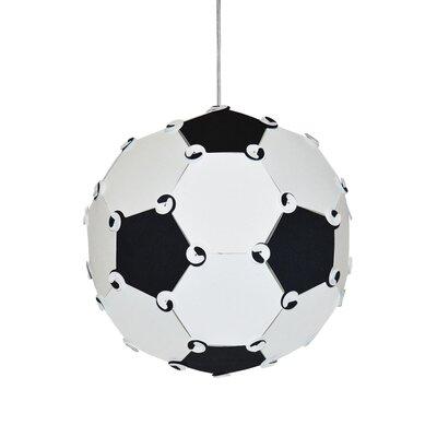Maura Soccer Ball 1-Light Globe Pendant