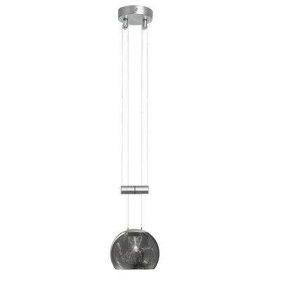 Annett 1-Light Adjustable Oval Pendant Shade Color: Black