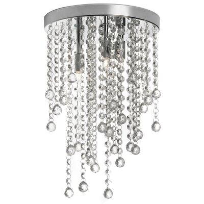 Shalon 3-Light Crystal Semi-Flush Mount