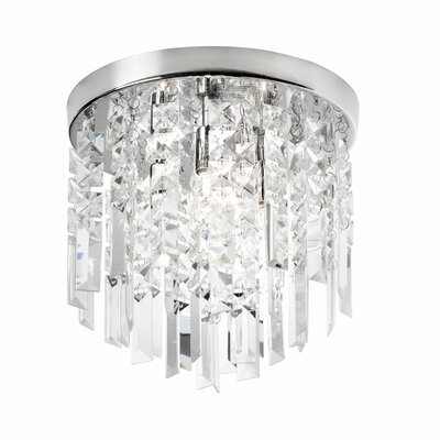 3 Light Crystal Flush Mount