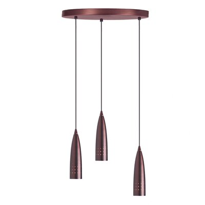 Gil 3-Light Cascade Pendant Finish: Oil Brushed Bronze