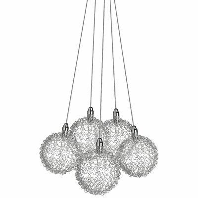 Robin 5-Light Cluster Glass Balls Globe Pendant
