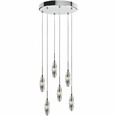 Fredric 6-Light Cascade Pendant