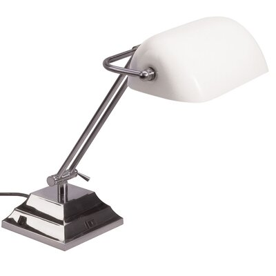 dainolite 1 Light Banker Table Lamp - Finish: Satin Chrome at Sears.com