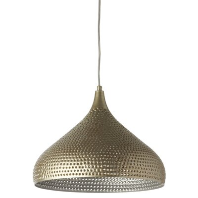 Francille 1-Light LED Inverted Pendant Shade Color: Antique Silver