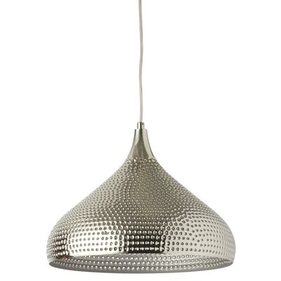 Francille 1-Light LED Inverted Pendant Shade Color: Burnished Chrome