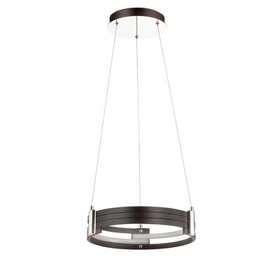Megara 1-Light LED Drum Pendant Shade Color: Matte Black