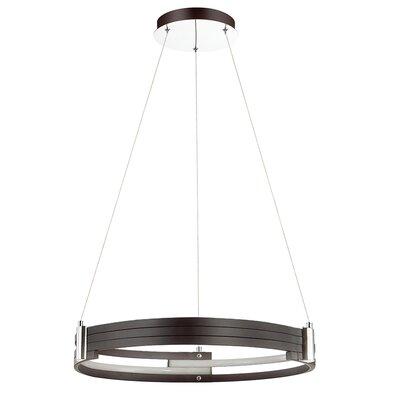 Megara 1-Light LED Drum Pendant Shade Color: Matte Black
