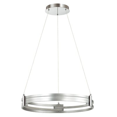 Megara 1-Light LED Drum Pendant Shade Color: Silver