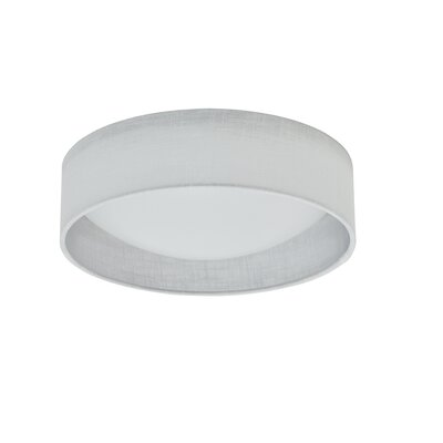 Florine 1-Light LED Flush Mount Shade Color: White