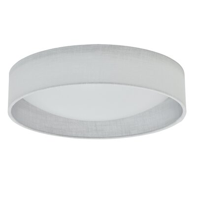 Jeannie 1-Light LED Flush Mount Shade Color: White