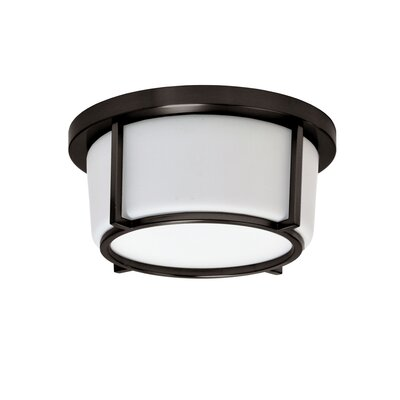 Jimmie 1-Light LED Flush Mount Fixture Finish: Bronze