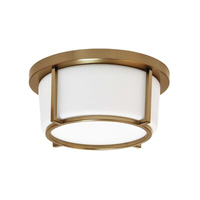 Jimmie 1-Light LED Flush Mount Fixture Finish: Vintage Bronze