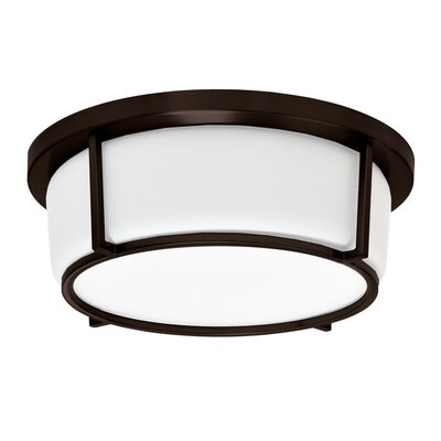 Tinna 1-Light LED Flush Mount Fixture Finish: Bronze