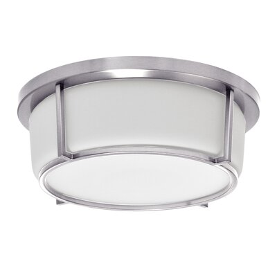 Tinna 1-Light LED Flush Mount Fixture Finish: Polished Chrome