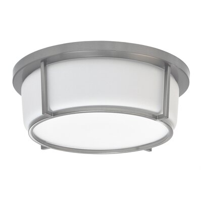 Tinna 1-Light LED Flush Mount Fixture Finish: Satin Chrome