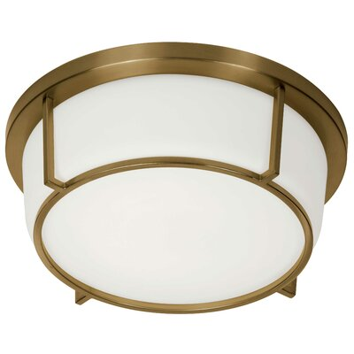 Tinna 1-Light LED Flush Mount Fixture Finish: Vintage Bronze