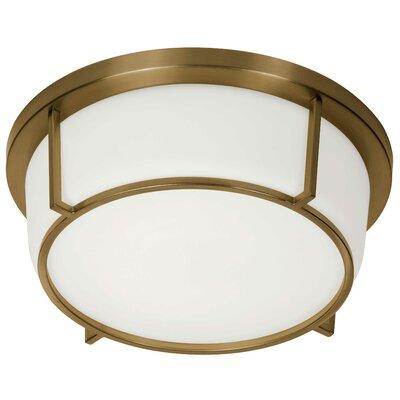 Tinna 1-Light LED Flush Mount Fixture Finish: Vintage Bronze
