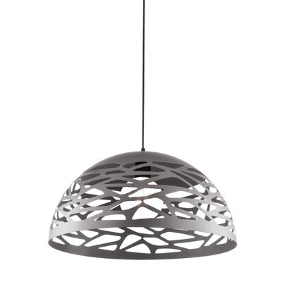 Wogina 1-Light LED Inverted Pendant Shade Color: Millstone