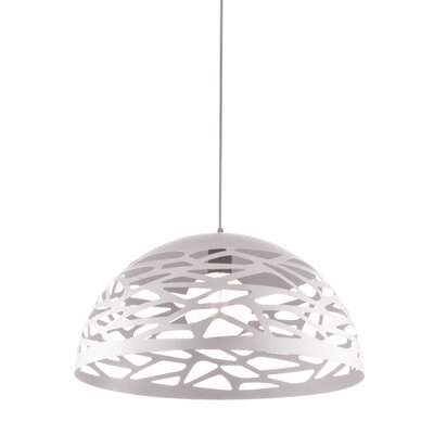 Wogina 1-Light LED Inverted Pendant Shade Color: Matte White