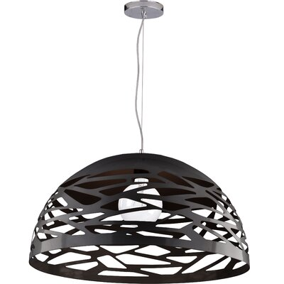Wogina 1-Light LED Inverted Pendant Shade Color: Matte Black