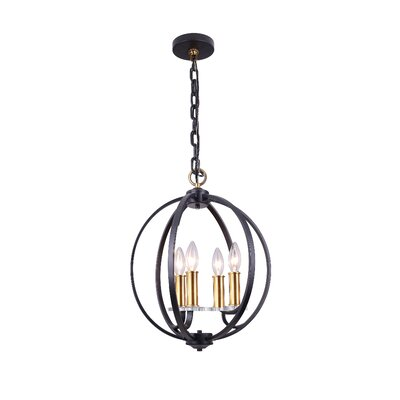 Camella 4-Light Mini Chandelier Finish: Black