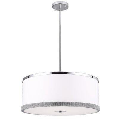 Eurytus 4-Light LED Drum Pendant Size: 8 H x 20 W x 20 D