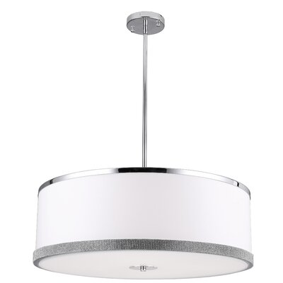 Eurytus 4-Light LED Drum Pendant Size: 8 H x 24 W x 24 D