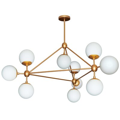 Lyle 10-Light Triangular Sputnik Chandelier