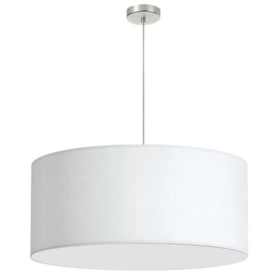 Favorinus 1-Light LED Drum Pendant Shade Color: White, Size: 16.5 H x 28 W x 28 D