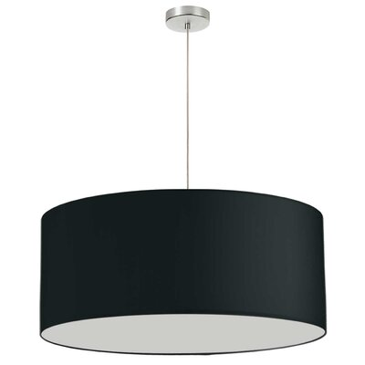 Favorinus 1-Light LED Drum Pendant Shade Color: Black, Size: 16.5 H x 28 W x 28 D