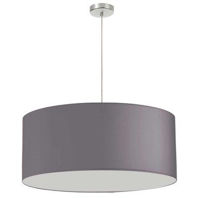 Favorinus 1-Light LED Drum Pendant Shade Color: Silver, Size: 16.5 H x 28 W x 28 D