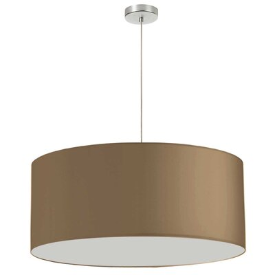 Favorinus 1-Light LED Drum Pendant Shade Color: Gold, Size: 16.5 H x 28 W x 28 D