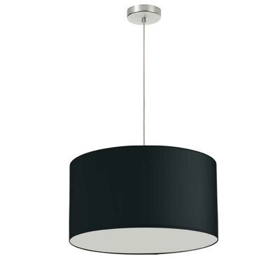 Favorinus 1-Light LED Drum Pendant Shade Color: Silver, Size: 14.5 H x 24 W x 24 D