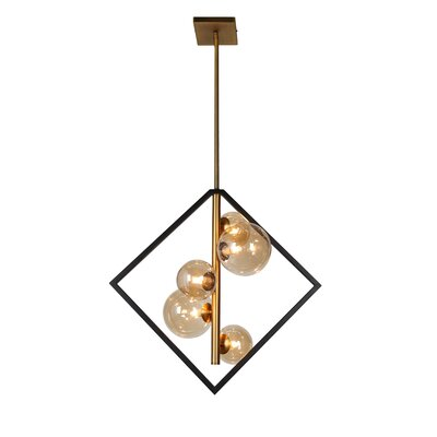 Coder 5-Light LED Geometric Pendant