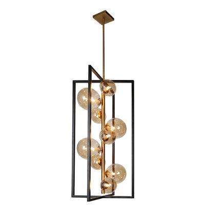 Coder 9-Light LED Geometric Pendant