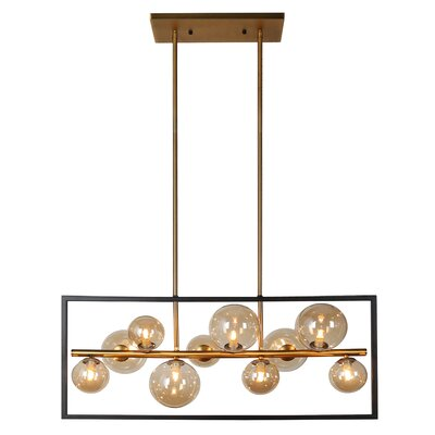 Coder 10-Light LED Kitchen Island Pendant