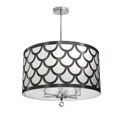 Piper 6-Light LED Drum Chandelier Shade Color: Black/White