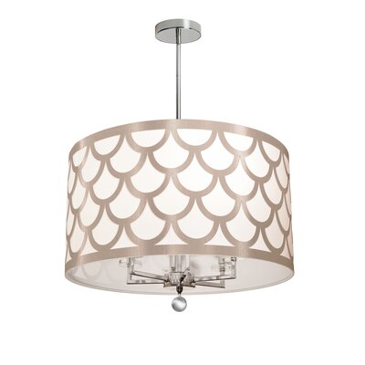 Piper 6-Light LED Drum Chandelier Shade Color: Winter Gold