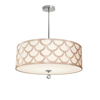Piper 4-Light LED Metal Drum Pendant Shade Color: Gold